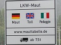 Maut-Schild in Deutschland (Quelle: Toll Collect GmbH)
